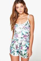Boohoo Ellie Floral Print Shorts And Cami Bridal PJ Set