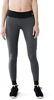 Lands' End Women's Tall Active Control Leggings-Iron Heather/Black