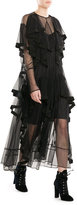 Preen Dress with Sheer Inserts and Tiers