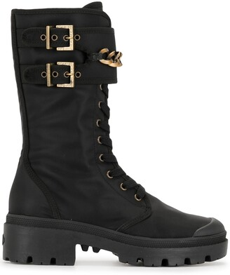Madison.Maison Lace-Up Mid-Calf Boots