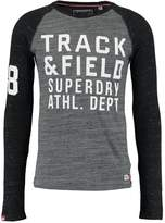 Superdry Trackster Baseball Long Sleeved Top Urban Grey Space/midnight Marl Space