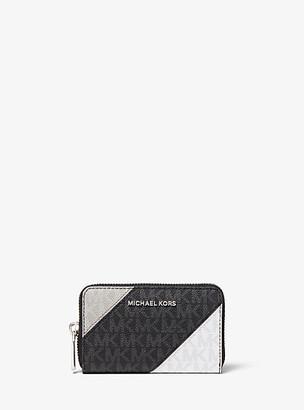 Michael Kors Small Color-Block Logo Wallet