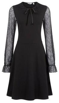 Dorothy Perkins Womens **Tall Black Lace Sleeve Dress, Black