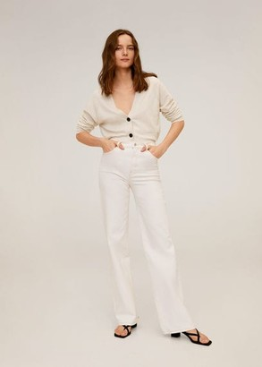 MANGO Buttoned short cardigan