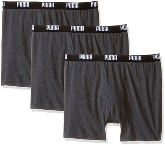 Puma Men's 3 Pack 100% Cotton Boxer Brief