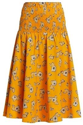 Tanya Taylor Lyla Smocked Skirt