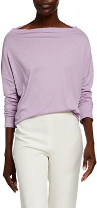 Vince Mock-Neck Long-Sleeve Cotton Pullover