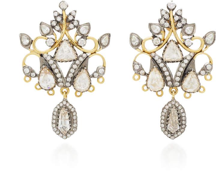 Amrapali 18K Black And Yellow Gold Diamond Earrings