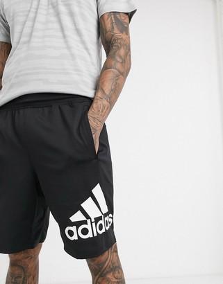 adidas Training shorts with logo in black