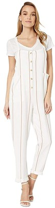 O'Neill Pacey Stripe Jumpsuit (Bright White) Women's Jumpsuit & Rompers One Piece