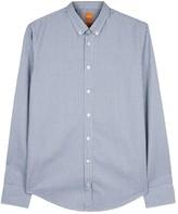 Boss Edipoe Blue Gingham Cotton Shirt