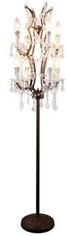 """Rosdorf Park Aubriella 67"""" Candelabra Floor Lamp"""