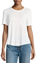 A.L.C. Alber Lace-Back Linen Tee, White