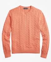 Brooks Brothers Supima® Cotton Cable Crewneck Sweater
