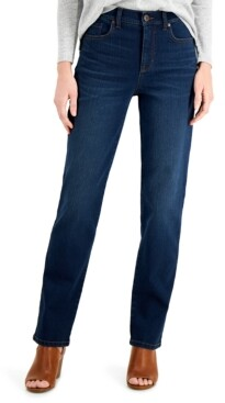 Style&Co. Style & Co Straight-Leg Mid-Rise Jeans, Created for Macy's