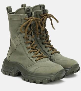 Miu Miu Canvas ankle boots