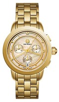 Tory Burch Tory Watch, Gold-Tone/Blush Mother Of Pearl Chronograph, 37 Mm