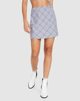 Alice In The Eve Brittany Check Mini Skirt