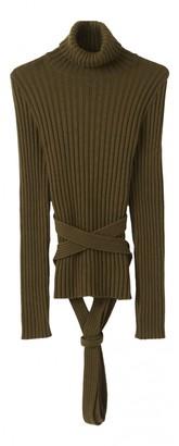 Jean Paul Gaultier Khaki Wool Knitwear for Women Vintage