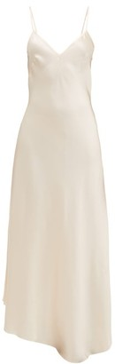 Raey Dip-hem Silk-satin Slip Dress - Womens - Nude