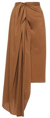 Brunello Cucinelli Asymmetric Draped Cotton-poplin Midi Wrap Skirt