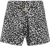 Moschino Leopard-Print Cotton-Blend Poplin Shorts