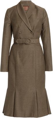 Lena Hoschek Legend Belted Wool Midi Blazer Dress