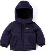 London Fog Navy Logo Puffer Coat - Infant & Boys