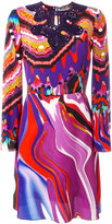 Roberto Cavalli abstract print flared dress - women - Silk - 40