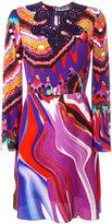 Roberto Cavalli abstract print flared dress - women - Silk - 42