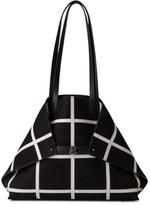 Akris Medium Ai Reversible Leather Tote - Black