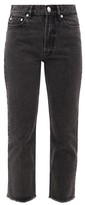 A.P.C. Rudie Cropped Straight-leg Jeans - Womens - Black