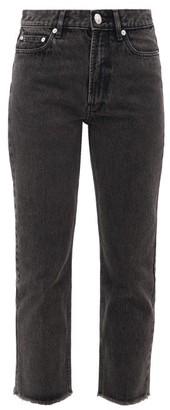A.P.C. Rudie Cropped Straight-leg Jeans - Black