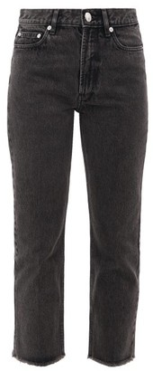 A.P.C. Rudie Cropped Straight-leg Jeans - Womens - Black