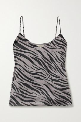 L'Agence Jane Zebra-print Silk-satin Camisole - Gray