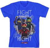 Bioworld Blue LEGO® Ninjago Black Tee - Boys