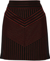 Alexander Wang Embroidered woven mini skirt