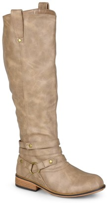 Journee Collection Walla Harness Riding Boot - Wide Calf