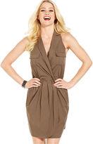Monroe Marilyn Juniors Dress, Sleeveless Pleated Wrap