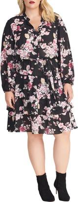 Rachel Roy Ally Floral Print Long Sleeve Dress