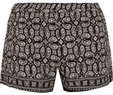 Madewell Foulard Paisley-print Voile Shorts - Black