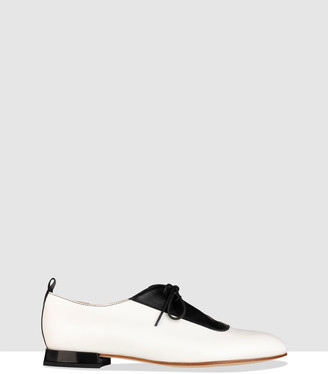 Habbot. Women's White Brogues & Loafers - Fiamma Unstructured Booties - Size One Size, 40 at The Iconic