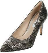 Clarks Women's Dinah Keer Court Shoes Grey Grau (Metallic Leather) 6