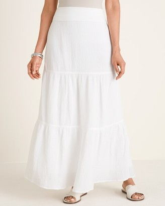 Chico's Tiered Gauze Maxi Skirt
