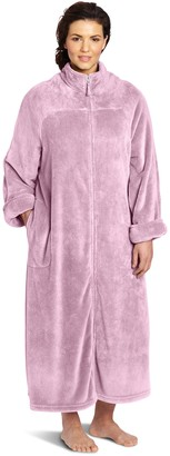 Casual Moments Women's Plus Size 52 Breakaway Zip Robe