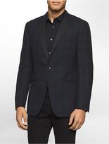Calvin Klein X Fit Ultra Slim Fit Textured Wool Blazer