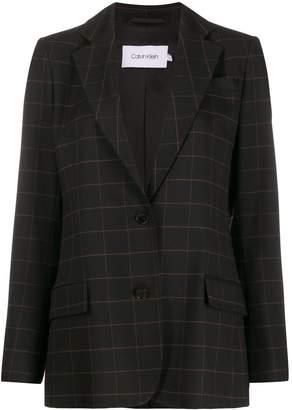 Calvin Klein grid print blazer