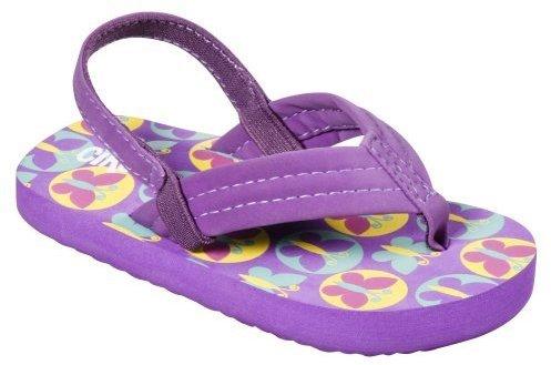 Circo Toddler Girls' Berdie Butterfly Flip Flops - Purple