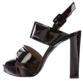 Hermes Patent Leather Studded Sandals