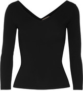 Michael Kors Stretch Merino Wool-blend Sweater - Black